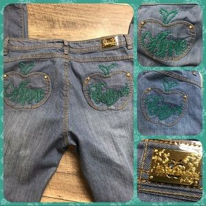 07a51fa38c1 NWT Vintage New Apple Bottoms Skinny Jeans Sz 12